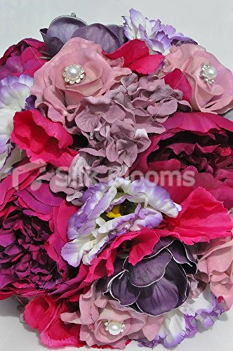 Gorgeous-Artificial-Silk-Pink-Peony-Lisianthus-and-Rose-Bridesmaid-Bouquet-with-Anemones