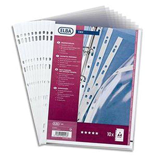 de perforées 9 Format PVC A5 Sachet 10 en 21x14 pochettes cm 8 10 100 trous gfgxdaHn