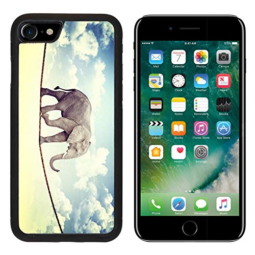 MSD Apple iPhone 8 Case Aluminum Backplate Bumper Snap Case Abstract Image of Acrobat elaphant Image 19749625 Customized Tablemats Stain Resistance