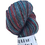 New Product: Egyptian Fingering, Hand Dyed Alpaca/Silk/Linen Yarn 75/25/25%, Hand Painted: Baltic, Fingering Weight, 100 Grams~438 Yards