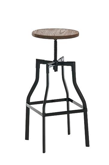 Sitzhöhe Barhocker clp schwarzer metall barhocker kara holzsitz rund