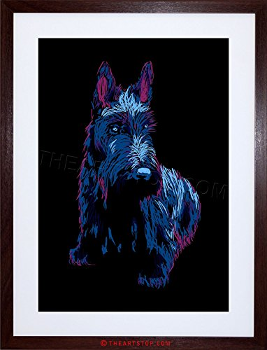 The Art Stop Painting Scottish Terrier Scottie Dog Cute Puppy Framed Print F97X6297