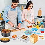 17 Pcs Air Fryer Accessories with Recipe Cookbook