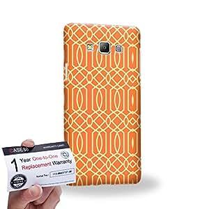 Case88 [Samsung Galaxy A7] 3D impresa Carcasa/Funda dura para & Tarjeta de garantía - Art Carpet And Tapestry Flame