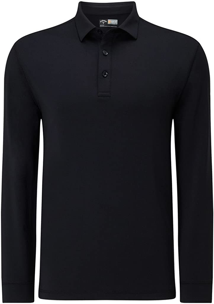 Callaway Long Sleeve Polo (Negro 002), Medium (Tamaño del ...