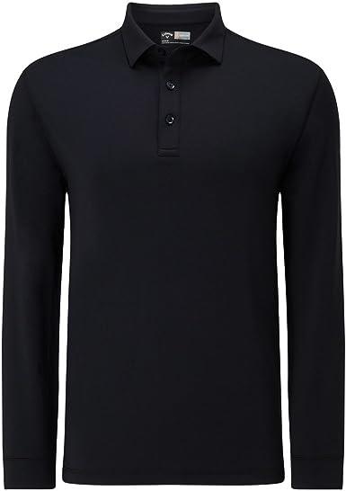 Callaway Long Sleeve Polo (Negro 002), Medium (Tamaño del ...