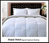 Alternative Comforter - Royal Hotel's King / California-King Size Down-Alternative Comforter - Duvet Insert, 300-Thread-Count 100% Down Alternative Fill