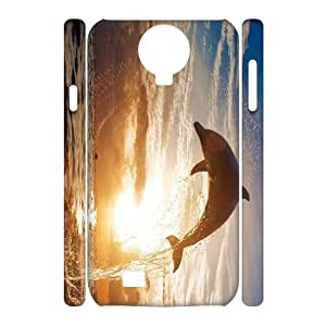 case Of Dolphin 3D Bumper Plastic Cell phone Case For Samsung Galaxy S4 i9500