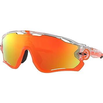 b1b29762ef Oakley Men s Jawbreaker Non-Polarized Iridium Rectangular Sunglasses Matte  Clear ...