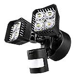 SANSI LED Security Motion Sensor Outdoor Lights, 30W (250W Incandescent Equivalent) 3400lm, 5000K Daylight, Waterproof Floodlight, ETL Listed, Black