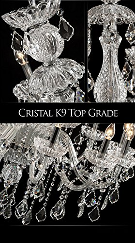 Generic Luxury Pendant Lamp Crystals Chandelier 18 Lights Arms Lamp Color Clear by non-brand (Image #5)