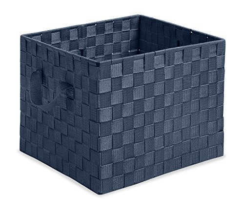 Whitmor Woven Strap Storage Crate Navy