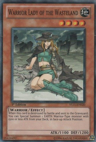 (Yu-Gi-Oh! - Warrior Lady of the Wasteland (YS11-EN020) - Starter Deck: Dawn of the Xyz - 1st Edition - Common)