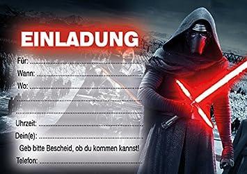 10 Einladungen Zum Kindergeburtstag Star Wars In German