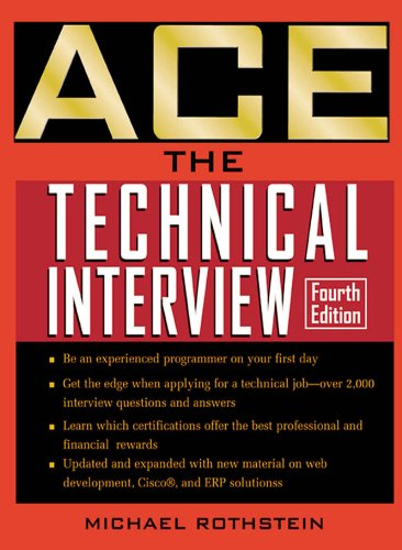 Ace the Technical Interview (ACE Technical Expert) Pdf