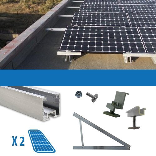 Kit Kit für 2Solarpanel Photovoltaik-250W Flachdach
