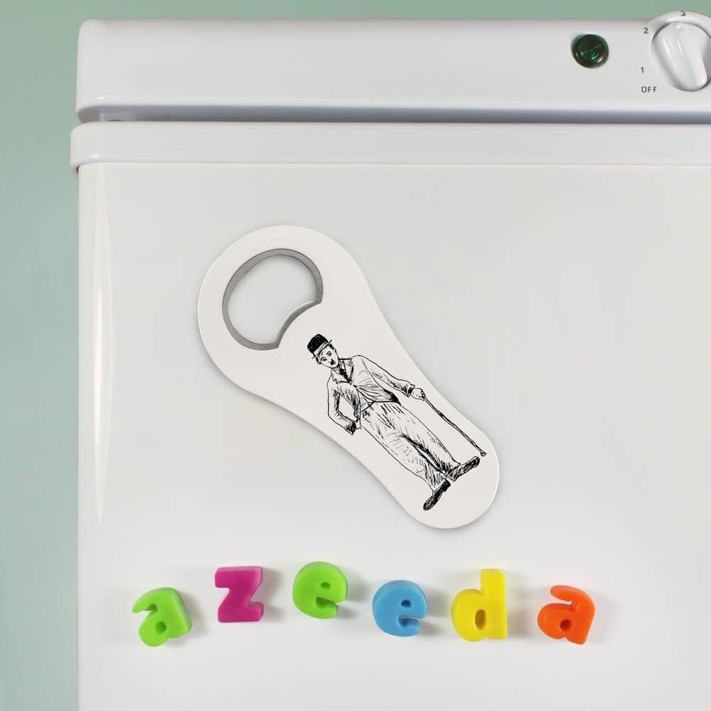 BO00023890 Azeeda Charlie Chaplin ouvre-Bouteille magn/étique