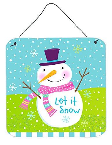 - Caroline's Treasures VHA3017DS66 Christmas Snowman Let It Snow Wall or Door Hanging Prints VHA3017DS66,Multicolor,6HX6W