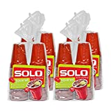 Solo Red Squared Plastic Party Cups, 200 Count