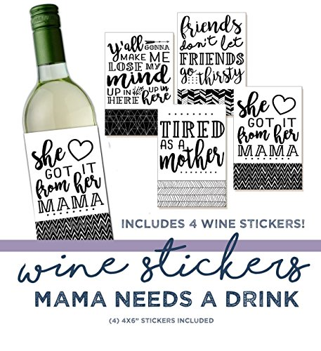 Gift Under $10 - Funny Wine Sticker - Wine Label - for sale  Delivered anywhere in USA