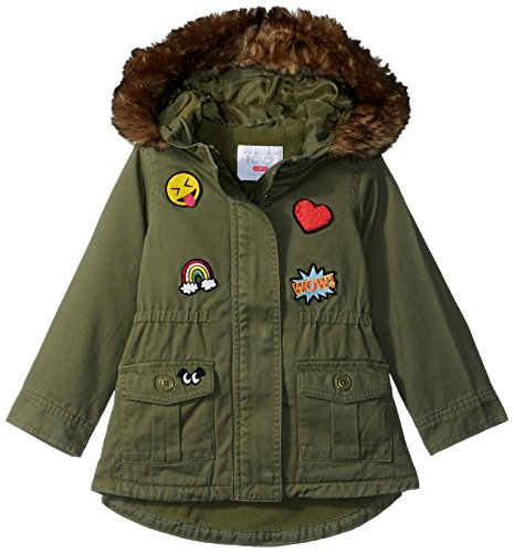 The Children's Place Baby Girls' Toddler Patch Parka, Dark Stinger 4T