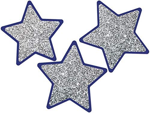 Carson Dellosa - Sparkle & Shine Solid Silver Glitter Stars Colorful Cut-Outs, Classroom Décor, 36 - Cut Colorful Outs Cd