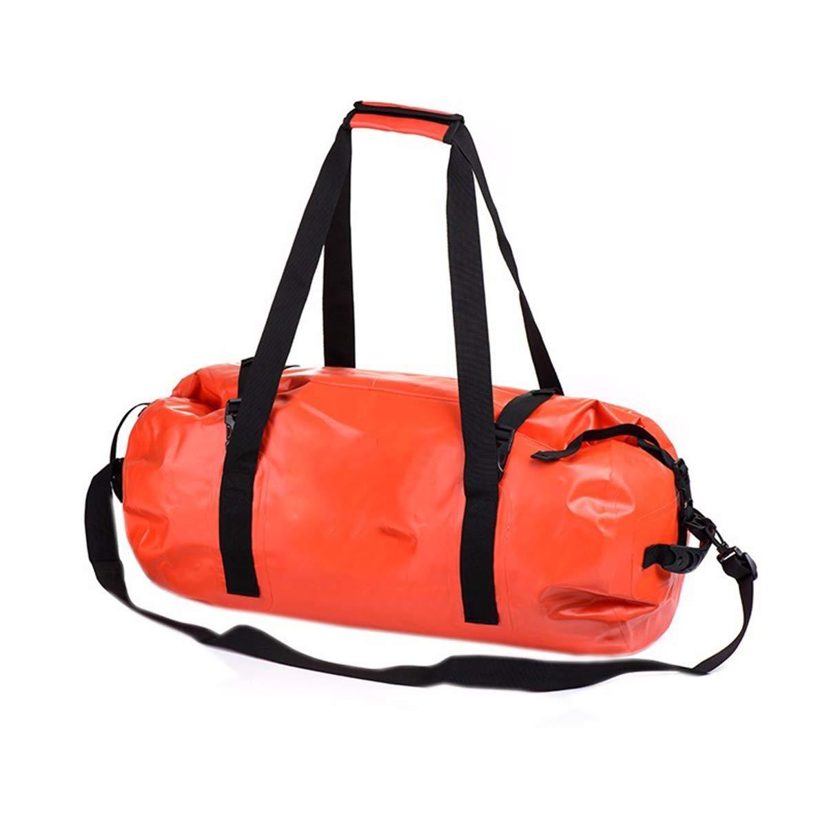 AMODA 40L 60L 90L 120L Large Capacity Outdoor Waterproof Swimming Bag Multifunctional Floating Diving Dry Bag Storage Kayak Bags Rafting Drift (Orange, 40L)