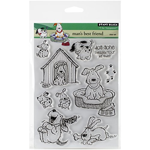 Penny Black 30-120 Man's Best Friend Transparent Stamp Set