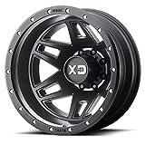 XD Series by KMC Wheels XD130 Machete Dually Satin Black Wheel (20x8.25/8x165.1, -198mm Offset)