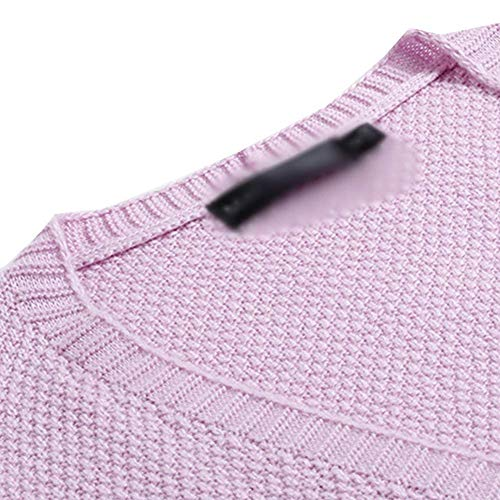 Casual Respirable Tejido Outerwear Mujer Casuales Violett Knit Otoño Chaqueta Largos Mujeres Primavera Laterales Larga Elegante Bolsillos Manga Abrigo Joven Rajas Simplemente Cardigan Termica Con Placket qxnaRxA