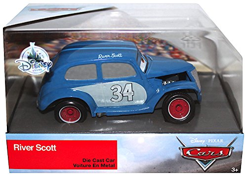 (River Scott Disney Cars 3 Exclusive DieCast 1:43 Scale)