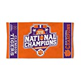 Clemson Tigers National Champions Bench Towel 22 x 42
