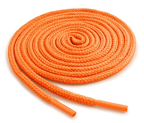 OrthoStep Round Athletic Neon Orange 45 inch Shoelaces 2 Pair Pack