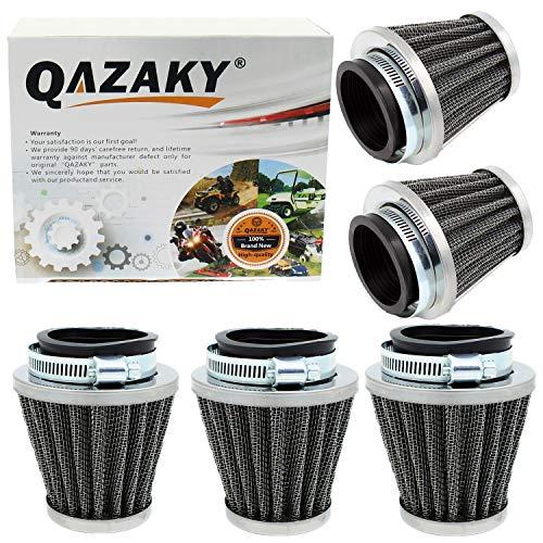 "QAZAKY 5pcs 38mm 39mm 40mm 1.5"" Air Filter Cleaner for 50cc 90cc 110cc 125cc 150cc 200cc GY6 Motorcycle ATV Scooter Quad Go Kart Moped Pit Dirt Racing Bike Kawasaki Yamaha Suzuki Baja TaoTao"