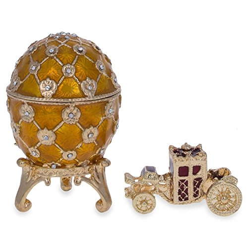 BestPysanky 1897 Coronation Royal Russian Egg 2.5 Inches for sale  Delivered anywhere in USA