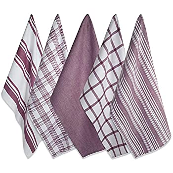 DII Kitchen Dish Towels (Wine, 18x28