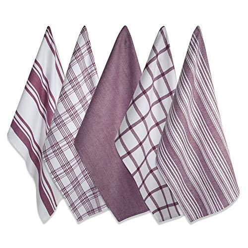 - DII Kitchen Dish Towels (Wine, 18x28