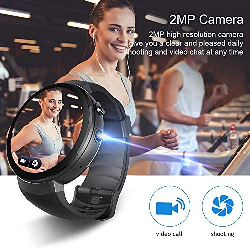 Digital Sport Watch Smart Watches Smart Watch Android 7 Smartwatch 4G Smart Watch Phone Heart Rate 1GB 16GB Memory with Camera Translation Tool@Black_China Sport Fitness Tracker