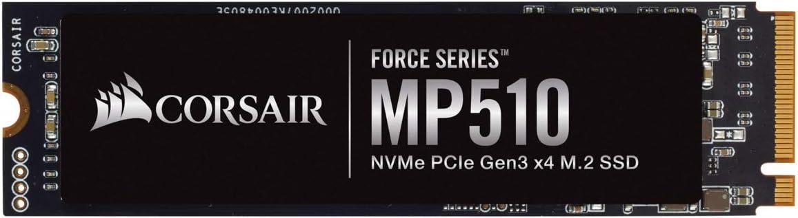 Corsair Force Series MP510 480GB NVMe PCIe Gen3 x4 M.2 SSD (CSSD-F480GBMP510B)