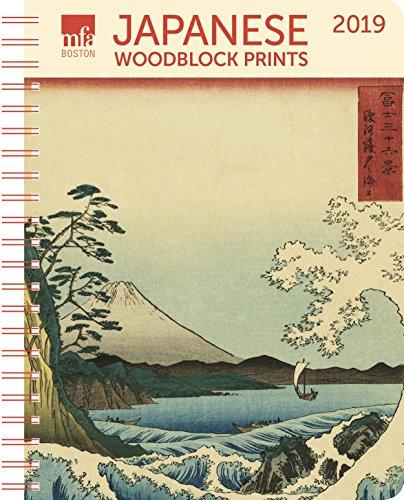 Japanese Woodblocks MFA Boston Weekly Engagement Calendar 2019 Planner 6.5