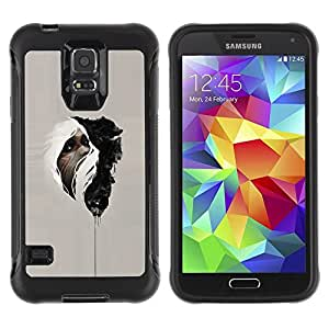 Paccase / Suave TPU GEL Caso Carcasa de Protección Funda para - Native Medicine Mysterious Indian - Samsung Galaxy S5 SM-G900