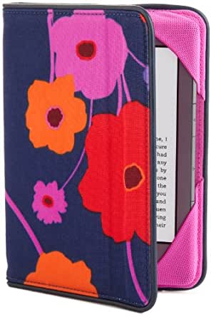 BUILT Kindle Slim Folio Case, Lush Flower, fits Kindle Paperwhite, Touch, and Kindle