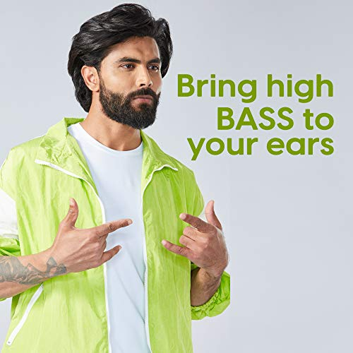 Ambrane Stringz 29 Wired Earphones with Mic, Powerful HD Sound with High Bass,Volume Controller, Tangle Free Cable, Comfort in-Ear Fit, 3.5mm Jack (Black), Normal