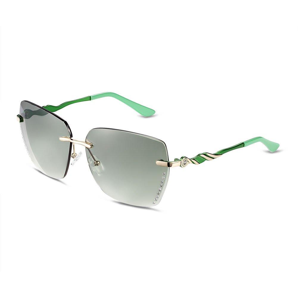 Luxus Mode Frosch Spiegel/Treibende Sonnenbrillen/Metall Sonnenbrille ohne Grenzen-C 3UsIfbIS