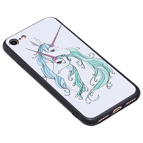 Coque iPhone 6 / 6S 3D cheval de couple Premium Gel TPU Souple Silicone Protection Housse Arrière Étui Pour Apple iPhone 6 / 6S + Deux cadeau