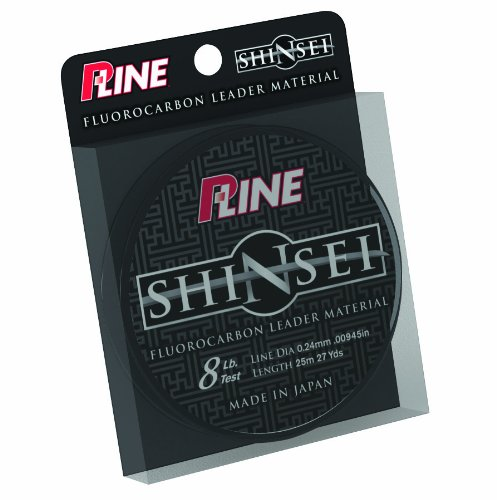 P-Line Shinsei 100-Percent Pure Fluorocarbon Leader Material (25 meter, 60-Pound), Outdoor Stuffs