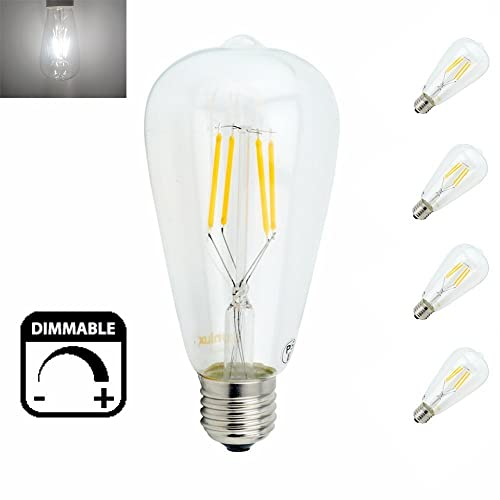 Edison Vintage 110v E26 E27 A19 A60 40w 60w Equivalent: Bonlux 8W A60 Screw E27 LED Filament Retro Bulb Cool White