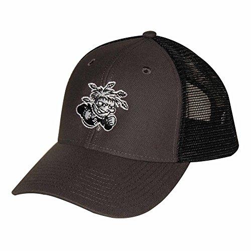 NCAA Wichita State Shockers Adult Unisex Industrial Canvas Mesh Cap  Adjustable Size