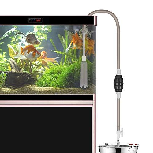 Fish Tank Gravel Cleaner, Jhua Aquarium Vacuum Gravel Cleaners 7.87FT Aquarium Cleaner Siphon Vacuum Pump Gravel Cleaner…