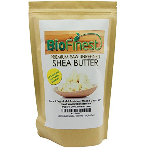 Biofinest Integrated Shea Butter - 100% Pure, Raw, Unrefined - Grade A Ivory - African Ghana - Best For Dry or Ache-Prone Pelt, Eczema, Stretch Marks - with E-book Recipe - 1 Lb (16 Oz)